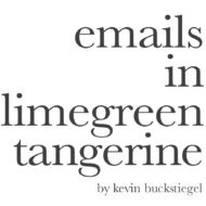 emails in limegreen tangerine